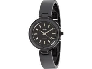 DKNY Women's NY8549 Black Ceramic Quartz Watch with Black Dial