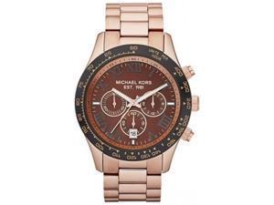 Michael Kors Men's Layton MK8247 Gold Stainless-Steel Quartz Watch with Brown Dial