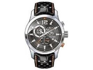 Nautica Men's N22564G Brown Crocodile Leather Automatic Watch with Black Dial
