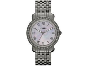 Fossil Women's Emma ES3114 Silver Stainless-Steel Quartz Watch with Mother-Of-Pearl Dial