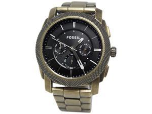 Fossil Men's Machine JR1398 Gold Stainless-Steel Quartz Watch with Black Dial
