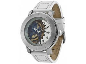 Ed Hardy Men's Astor AS-WH Beige Leather Quartz Watch with Brown Dial