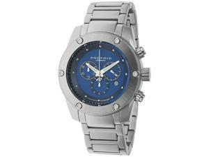 Android Men's AD556BBU Silver Stainless-Steel Quartz Watch with Blue Dial