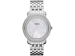 Fossil Women's Emma ES3112 Silver Stainless-Steel Quartz Watch with Mother-Of-Pearl Dial