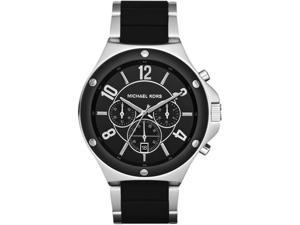 Michael Kors Men's MK8272 Black Silicone Quartz Watch with Black Dial