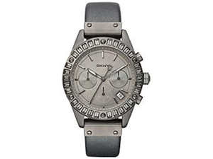 DKNY Women's NY8653 Grey Calf Skin Quartz Watch with Grey Dial