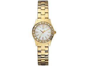 Guess Women's U0025L2 Gold Stainless-Steel Quartz Watch with Mother-Of-Pearl Dial
