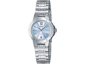 Casio Women's LTP1177A-2A Silver Stainless-Steel Quartz Watch with Blue Dial