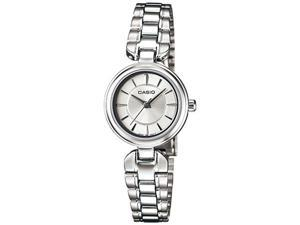 Casio Women's LTP1353D-7A Silver Stainless-Steel Quartz Watch with Silver Dial