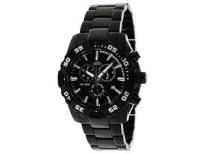 Swiss Precimax Men's Formula-7 Pro SP12061 Stainless Steel Chronograph Watch - Black with Black Dial