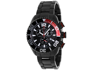 Swiss Precimax Men's Deep Blue Pro II SP12164 Black Stainless-Steel Swiss Chronograph Watch with Black Dial