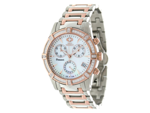 Swiss Precimax Desire Elite Diamond SP12081 Women's Mother-Of-Pearl Dial Two-Tone Stainless Steel Quartz Watch