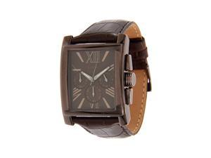 Guess Men's U0010G3 Brown Crocodile Leather Quartz Watch with Brown Dial