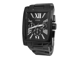 Guess Men's U0009G3 Black Stainless-Steel Quartz Watch with Black Dial