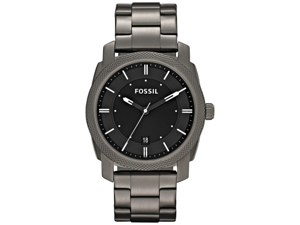 Fossil Men's Machine FS4774 Grey Stainless-Steel Quartz Watch with Black Dial