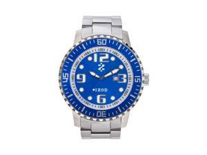 Izod Men's IZS5/6.BLUE Silver Stainless-Steel Quartz Watch with Blue Dial