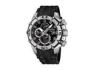 Festina Men's Tour De France F16600/2 Black Rubber Quartz Watch with Black Dial