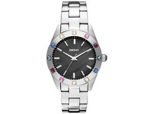 DKNY Women's NY8718 Silver Stainless-Steel Quartz Watch with Mother-Of-Pearl Dial