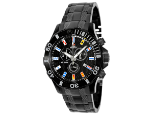 Swiss Precimax Men's Armada Pro SP13050 Black Stainless-Steel Swiss Chronograph Watch with Black Dial
