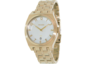 Nixon Men's A3251219-00 Gold Stainless-Steel Quartz Watch with Silver Dial