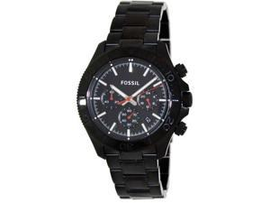 Fossil Retro Traveler Chronograph Stainless Steel Water Resistant Watch – Black