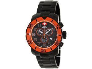 Swiss Precimax Men's Verto Pro SP13034 Black Stainless-Steel Swiss Chronograph Watch with Black Dial