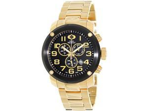 Swiss Precimax Men's Marauder Pro SP13019 Gold Stainless-Steel Swiss Chronograph Watch with Black Dial