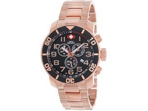 Swiss Precimax Men's Verto Pro SP13040 Rose-Gold Stainless-Steel Swiss Chronograph Watch with Black Dial