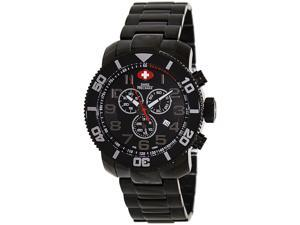 Swiss Precimax Verto Pro SP13032 Men's Black Dial Stainless Steel Chronograph Watch