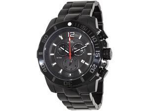 Swiss Precimax Crew Pro SP13253 Men's Black Dial Stainless Steel Chronograph Watch