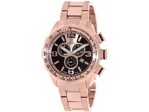 Swiss Precimax Deep Blue Pro III SP13134 Men's Rose Gold Dial Stainless Steel Chronograph Watch