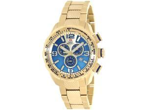 Swiss Precimax Deep Blue Pro III SP13135  Men's Gold Dial Stainless Steel Chronograph Watch