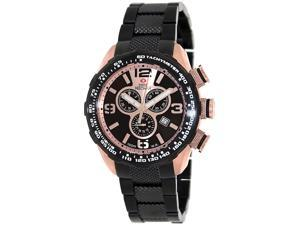 Swiss Precimax Deep Blue Pro III SP13133 Men's Rose Gold Dial Stainless Steel Chronograph Watch