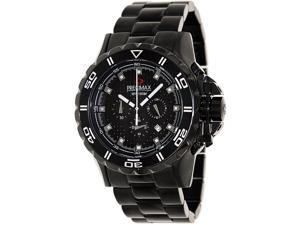 Swiss Precimax Men's Carbon Pro PX12202 Black Stainless-Steel Quartz Watch with Black Dial
