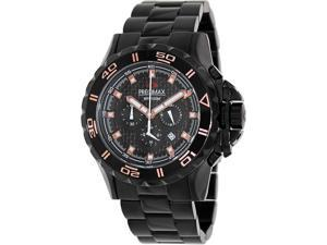 Precimax Men's Carbon Pro PX13233 Black Stainless-Steel Quartz Watch with Black Dial
