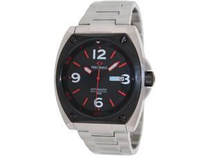 Precimax Men's Fortis Automatic PX13211 Silver Stainless-Steel Automatic Watch with Black Dial