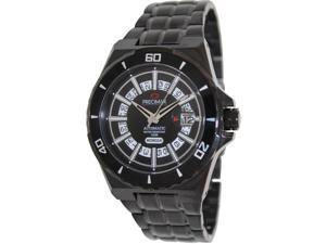 Precimax PX13219 Men's Stark Automatic Watch with Black Dial - Black Stainless Steel