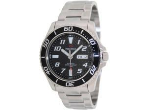 Precimax Aqua Classic Automatic PX13221 Men's Black Dial Silver Stainless Steel Automatic Watch