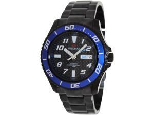 Precimax Men's Aqua Classic Automatic PX13225 Black Stainless-Steel Automatic Watch with Black Dial