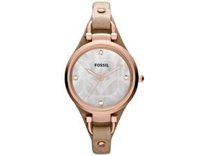 Fossil Women's ES3151 Black Leather Quartz Watch with Silver Dial
