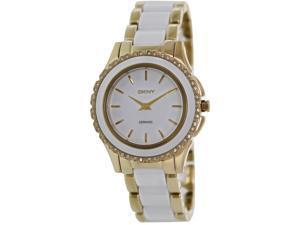 Dkny Women's NY8829 Two-Tone Ceramic Analog Quartz Watch with White Dial