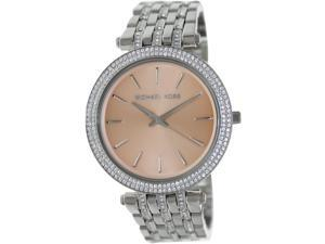 Michael Kors Women's Darci MK3218 Silver Stainless-Steel Quartz Watch with Brown Dial