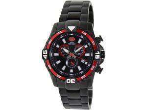 Swiss Precimax Falcon Pro SP13112 Men's Black Dial Stainless-Steel Chronograph Watch