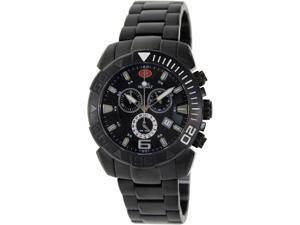 Swiss Precimax Recon Pro SP13121 Men's Black Dial Stainless Steel Swiss Chronograph Watch