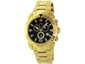 Swiss Precimax Men's Recon Pro SP13123 Gold Stainless-Steel Swiss Chronograph Watch with Black Dial