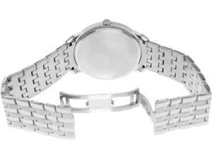 Bulova 96A134 Men's Dress Stainless Steel Black Sunray Dial Quartz Watch
