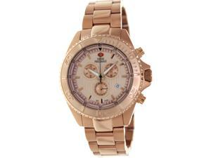 Swiss Precimax Men's Maritime Pro SP12195 Rose-Gold Stainless-Steel Swiss Chronograph Watch with Rose-Gold Dial