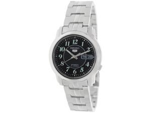 Seiko Men's 5 Automatic SNKL93K Silver Stainless-Steel Automatic Watch with Black Dial