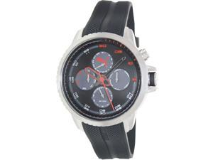 Puma Men's PU103271003 Black Rubber Analog Quartz Watch with Black Dial