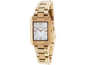 Fossil Women's Florence ES3326 Rose-Gold Stainless-Steel Quartz Watch with White Dial